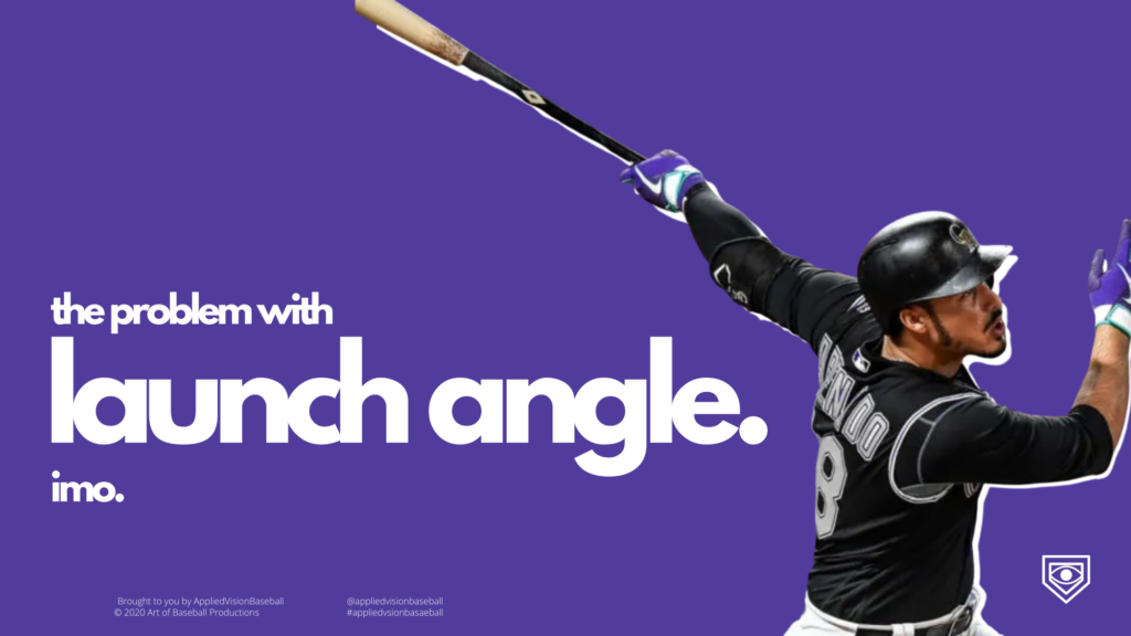 The Problem With The Launch Angle. IMO.