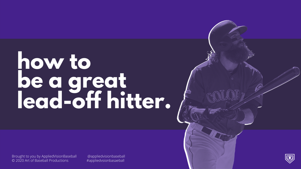 How To Be a Great Lead-Off Hitter.